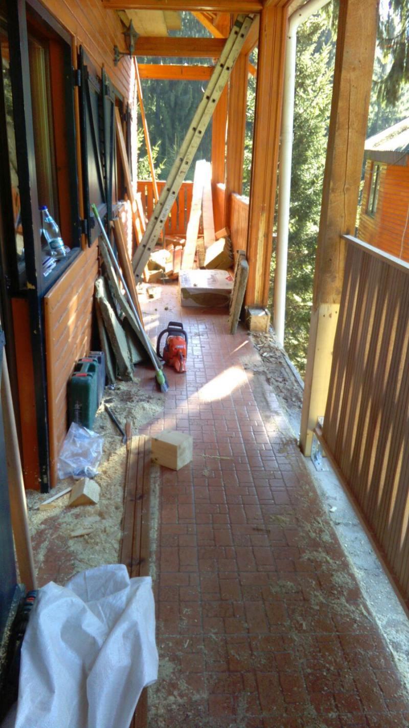 amenajare exterior - inlocuire lemn balustrada