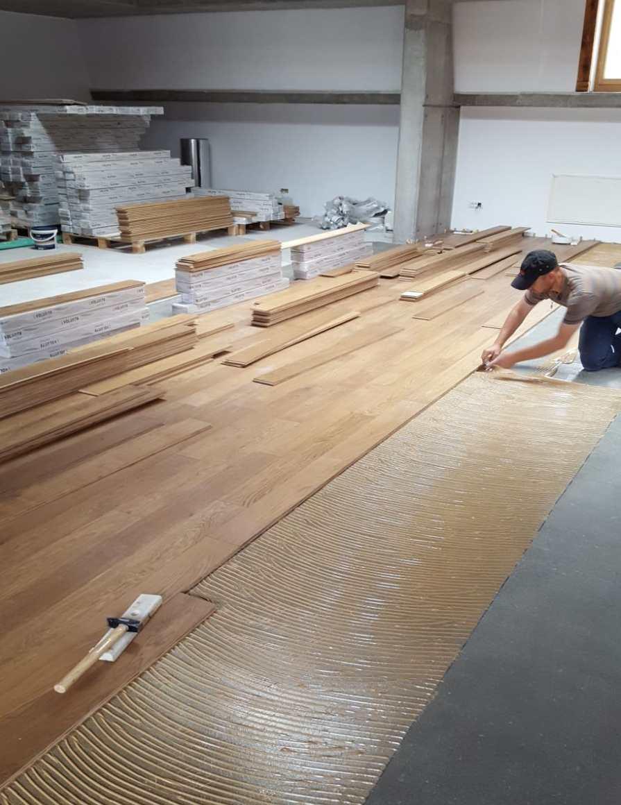 montaj parchet lemn lucrare Alma Parchet