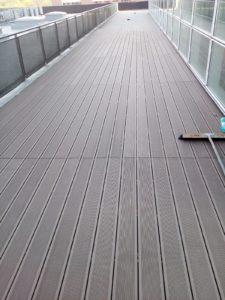 Deck WPC in Proiect de terasa exterioara executat de Alma Parchet