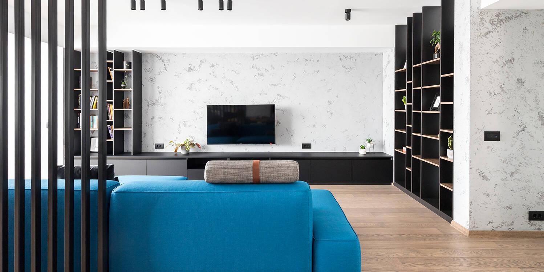 amenajare apartament minimalist industrial