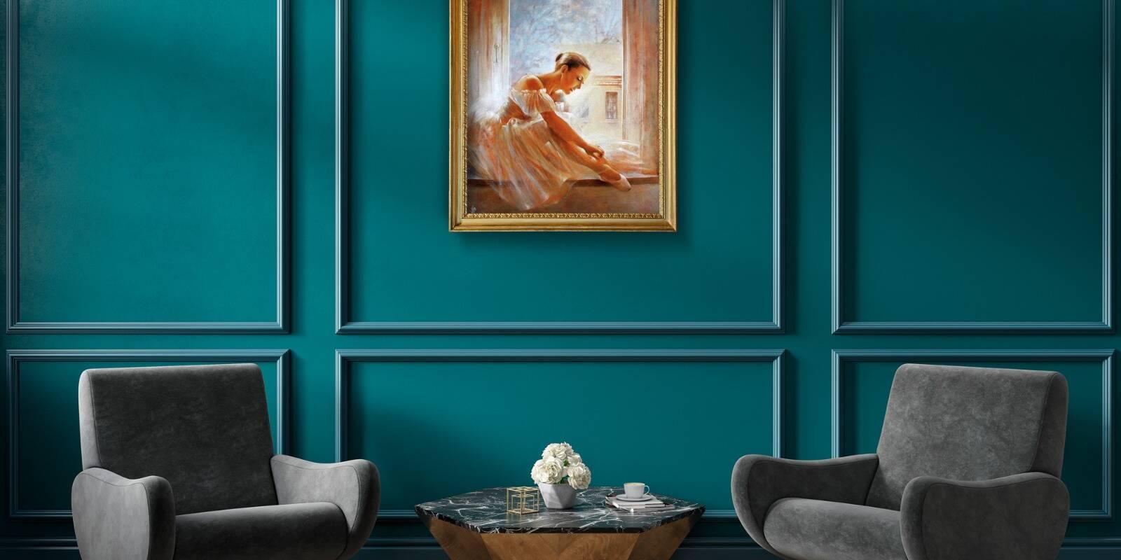 Iti doresti o casa eleganta? Afla cum imbinare tablouri pictate manual si pachetul Chevron contribuie la un aspect clasic.